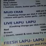 Price of Lobster (top) per kilo