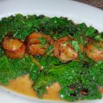 Scallops and kale