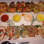 Main Course: Hot and cold seafood platter