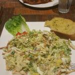 Cesar salad... gross!!!!!!! Who shreds the lettuce in cesar salad & mixes the egg in. Disappoint