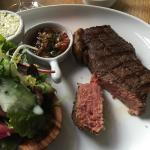 Our last dinner in den Bosch and the customary excellence at De Breton. A fine,  rare rump steak