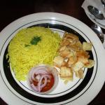 Rice and Pita plate to accompany the Molookhiya
