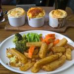 Couple of upto date pictures of our buffet food and our new special - trio of pies! Proving a ve