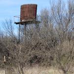 Historic water tower near San Pedro House