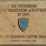 Plaque at Grizzly Creek rest area