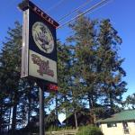 Outdoor signage, Crown and Anchor Pub, Bowser, BC