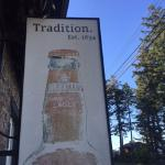 Old Sleeman's Honey Brown signage, Crown and Anchor Pub, Bowser, BC