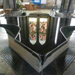 Reflection in the font