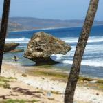 Bathsheba Beach, where you can locate the natural pools during low tide