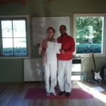 a new yoga teacher, with Yogi Ram
