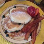 Blueberry Oancakes & Bacon