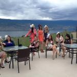 Relaxing and enjoying the stunning Okanagan view