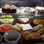 Cakes,salads and savouries.