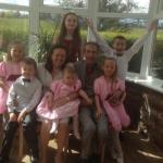 Our wedding with our 6 gorgeous grandchildren