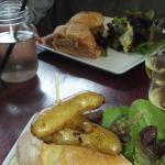 TURKEY burger and Meatball sandwich
