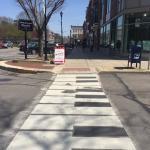 Piano key crosswalks!