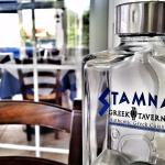 Stamna offers an enclosed outdoor eating area.