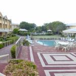 Pool area of resort
