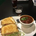 The Bogger Turkey Sandwich and a Cup of Guinness Irish Stew.