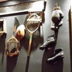 Sports equipment on the wall
