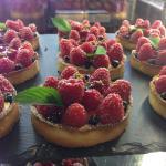 Les fameuses tartelettes aux Framboises Fraîches :)