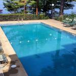 Pool overlooking Paugus Bay, Lake Winnipesaukee