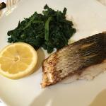 Seabass and spinach