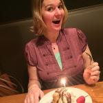 Fun on my birthday! (and the server brought a unplanned dessert!)