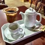 Café coado na hora