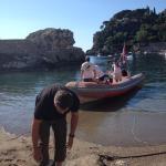 Vertrek vanaf het strand van Mazzaró