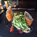 One of our starters - mackerel fish finger