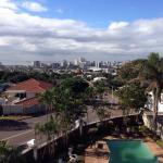 Seul véritable attrait: la vue sur Durban du premier étage