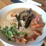 Raman soup with seafood