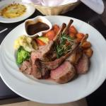 Agnello Alla Siciliana: Rack of lamb with mint & rosemary sauce