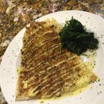 Pecan crusted trout sauteed in butter to a wonderful crispy outside