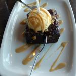 Birthday Brownie topped with Ice Cream