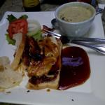 Grilled teriyaki Chicken and bacon sandwich - yuk
