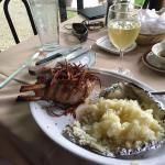 Great Pork Chop Bone In Real Good and a Little Wine Also