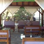 Lovely gazebo where we enjoy wonderful cocktails before dinner in the evening