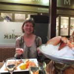 Assiette norvegienne, lobster, chablis and the wife!