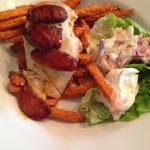 Chicken, Chorizo and Sweet Potato Fries