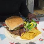Home-made big burger