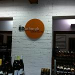 Iconic city cellar with wide selection of quality wine next door to an equally well respected fa