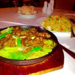 Sizzling Chinese Beef and Shrimp Fried Rice