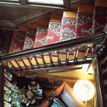 staircase to guest hallway