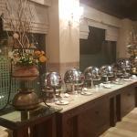 The buffet setup at Zamana