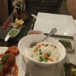 Lamb Chops, King Prawn Marsala & Rice.