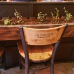 Herb boxes and custom chairs.