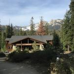 Main lodge with Mt Silliman in background