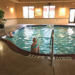 kids swimming at the indoor pool
